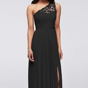 Long One Shoulder Lace Dress